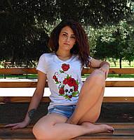 """Женская футболка """"Череп с розами"""""""