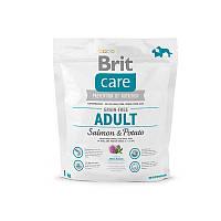 Корм для взрослых собак малых,средних пород Brit Care Grain-free Adult Salmon&Potato с лососем и картофелем1кг