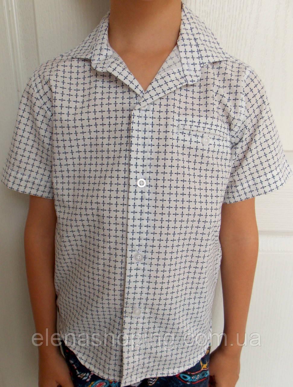 Детская рубашка с коротким рукавом  для мальчика (2-5 лет)