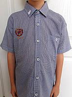 Детская рубашка с коротким рукавом  для мальчика (7-9 лет)