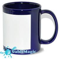 Чашка сублимационная с белой панелью Кобальт