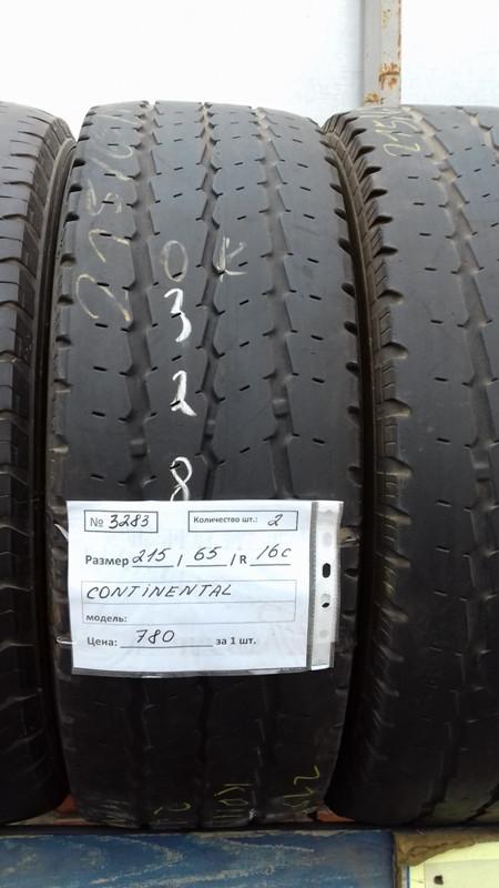 Шины б.у. 215.65.r16с Continental Vanco 6 Континенталь. Резина бу для микроавтобусов. Автошина усиленная. Цешка