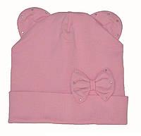 Детская шапочка с ушками осенняя для девочки