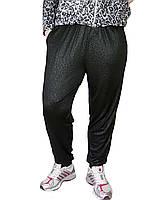 Женские брюки масло № 403-1 Батал черные с карманами