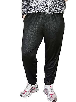 Женские брюки масло № 403-1 Батал черные с карманами, фото 2