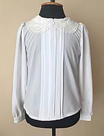 Детская блузка подростковая для девочек школьная белый
