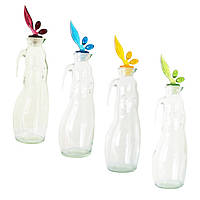 Бутылка для масла стеклянная прозрачная, SWAN, 1 л, TM Miradan