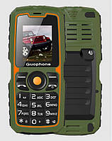 "Ударопрочный бабушкофон Guophone V3S Green зеленый IP67 (2SIM) 1,8"" 1 Мп 4000 мАч Гарантия!"