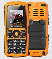 """Ударопрочный бабушкофон Guophone V3S Yellow желтый IP67 (2SIM) 1,8"""" 1 Мп 4000 мАч Гарантия!"""