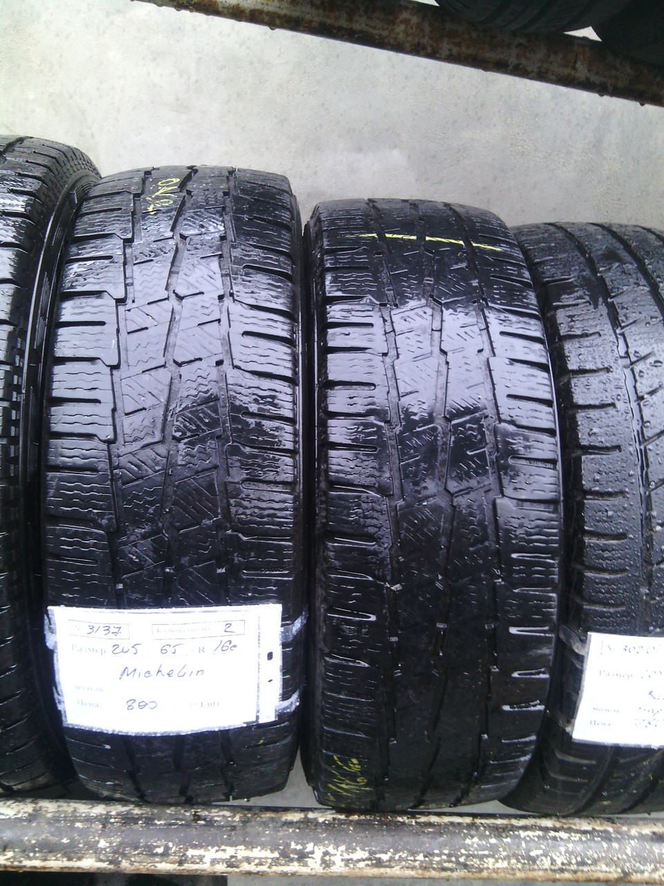 Бусовские шины б.у. / резина бу 205.65.r16с Michelin Agilis 51 Мишлен