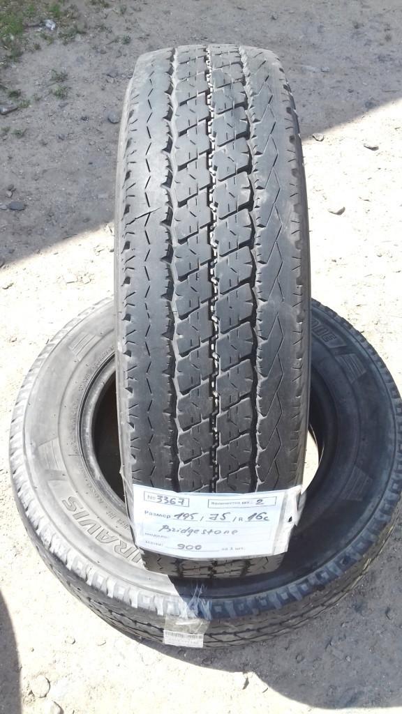 Шины б.у. 195.75.r16с Bridgestone Duravis Бриджстоун. Резина бу для микроавтобусов. Автошина усиленная. Цешка