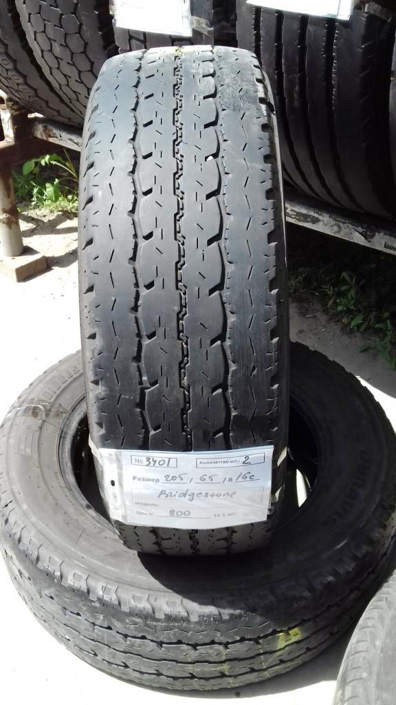 Шины б.у. 205.65.r16с Bridgestone Duravis Бриджстоун. Резина бу для микроавтобусов. Автошина усиленная. Цешка