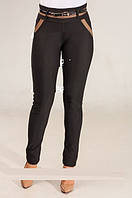 Модные леггинсы для девушки и женщин, плотный трикотаж, отлично смотрится, ремень  р.42, код 5314М