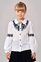 Красивенная блуза с кружевом для школы