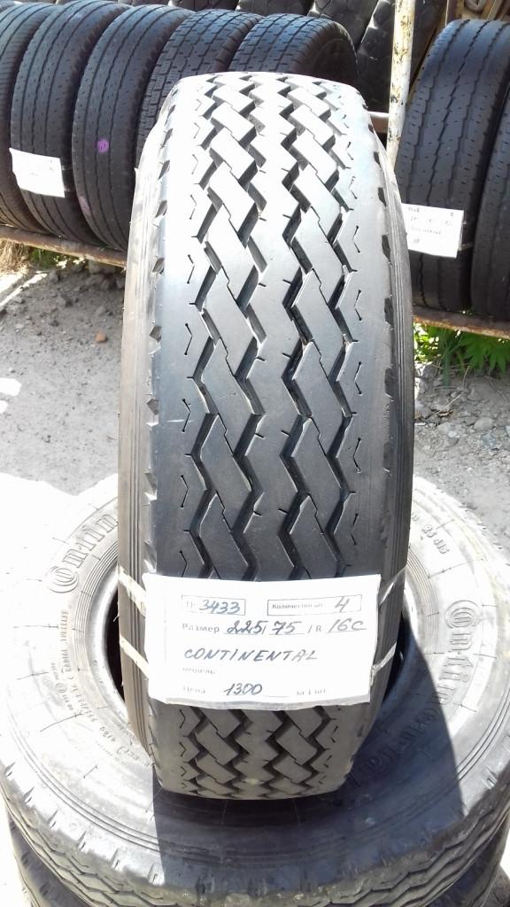 Бусовские шины б.у. / резина бу 225.75.r16с Continental RS415 Континенталь. Почти новые!
