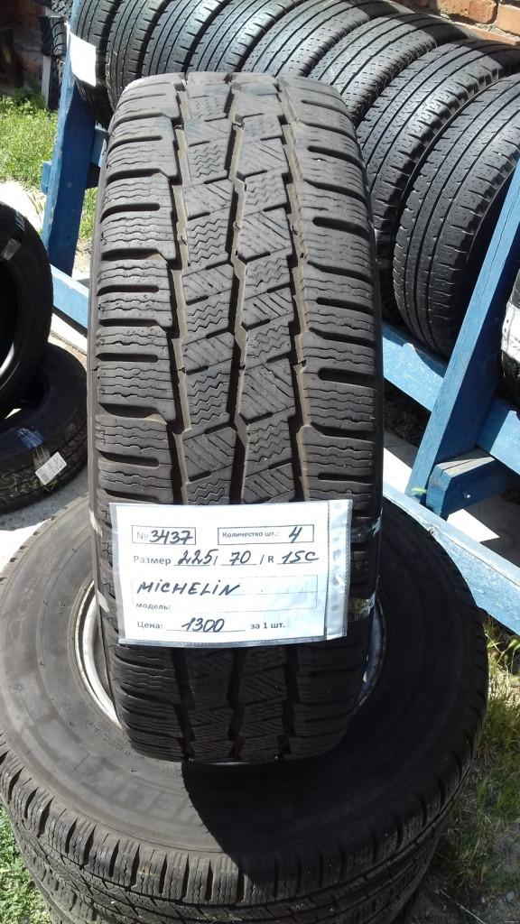 Шины б.у. 225.70.r15с Michelin Agilis Alpin Мишлен. Резина бу для микроавтобусов. Автошина усиленная. Цешка