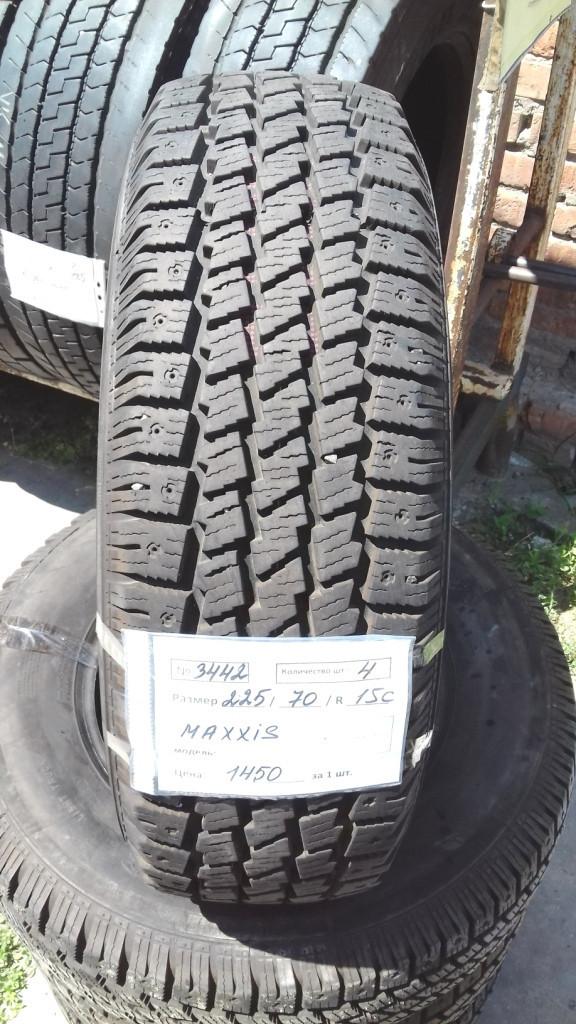 Бусовские шины б.у. / резина бу 225.70.r15с Maxxis Winter Maxx LT Максис