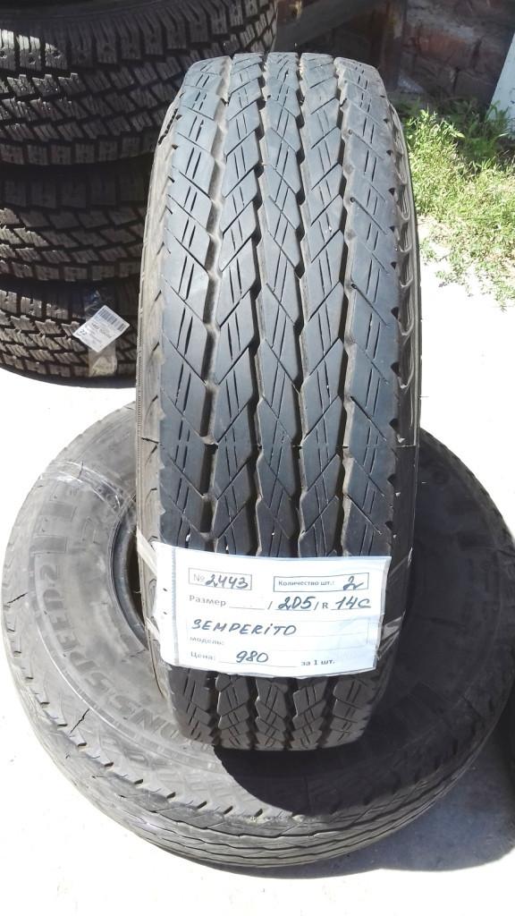 Бусовские шины б.у. / резина бу 205.r14с Semperit Transspeed2 Семперит