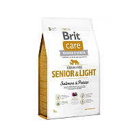 Корм для пожилых собак Brit Care Grain-free Senior&Light Salmon&Potato с лососем и картошкой, 3 кг