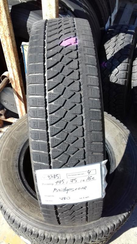 Шины б.у. 195.75.r16с Bridgestone Blizzak W810 Бриджстоун. Резина бу для микроавтобусов. Автошина усиленная. Цешка