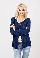 Модный женский вязаный жакет пиджак
