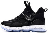 """Баскетбольные кроссовки Nike LeBron 14 """"Chase Down"""" Black/White-Ice (Найк Леброн) черные"""
