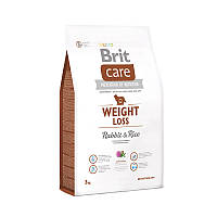 Корм для собак с избыточным весом Brit Care Weight Loss Rabbit & Rice кролик/рис, 12 кг