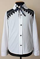 Красивая детская школьная блузка для девочки нарядная
