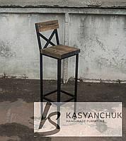 Барный стул со спинкой крестом