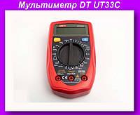 Мультиметр DT UT33C,Цифровой мультиметр, тестер, цифровой тестер, электрический тестер напряжения!Опт