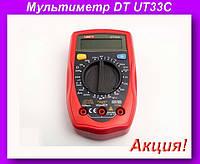 Мультиметр DT UT33C,Цифровой мультиметр, тестер, цифровой тестер, электрический тестер напряжения!Акция