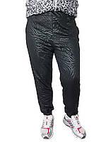 Женские брюки масло № 403-2 Батал черные с карманами