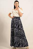 Летний женский костюм Холли майка и длинная шифоновая юбка 42-52 размеры