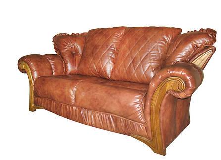 """Стильный раскладной 2х местный кожаный диван """"Faero"""" (Фаэро). (178 см), фото 2"""