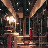 Натяжной потолок в ванной 4,5 м.кв.