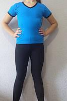 Комплект спортивный капри-лосины  + футболка для девочки