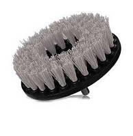 Щетка для очистки ковров, тканевой обивки малой жесткости, серого цвета Sensitive Fabric Brush with Drill Atta