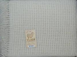 Плед шерстяний Рогожка «VLADI» Євро розмір