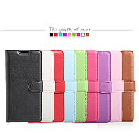 Кожаный чехол книжка Lichee на Samsung Galaxy J7 Max (9 цветов)