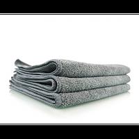 Серое микрофибровое профессиональное полотенце для металлических поверхностей, 40х40 см MIC_352
