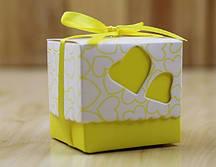 Бонбоньерка желтая 5х5см