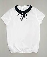 Белая детская блузка на 7 - 10 лет