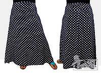 """Стильная женская юбка для пышных дам """"Горох"""""""
