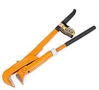 """Ключ трубный 90 градусов 1"""" с обрезиненной ручкой POLAX"""
