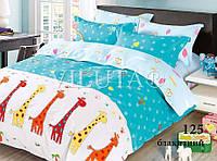 Комплект постельного белья сатин-твил Жирафы