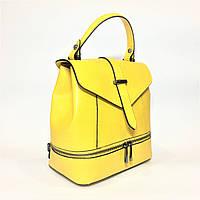 Сумка-рюкзак, кожа, Италия, yellow, фото 1