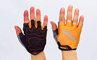 Вело-перчатки текстильные MADBIKE Оранжевый, M