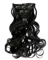 Волосы на заколках Черный