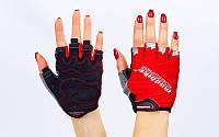 Вело-перчатки текстильные MADBIKE Красный, XL