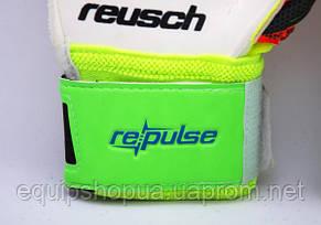 Перчатки Вратарские Reusch pro M1 replica салатово-оранж., фото 2